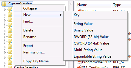 example registry key en